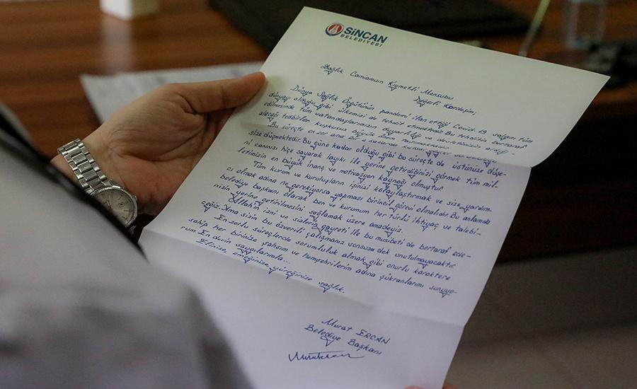 Başkan'dan Mektup