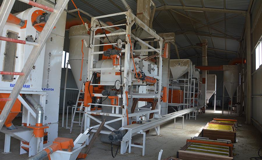 Akyurt'ta Tohum Eleme Sistemi Yeni Sezona Hazırlandı