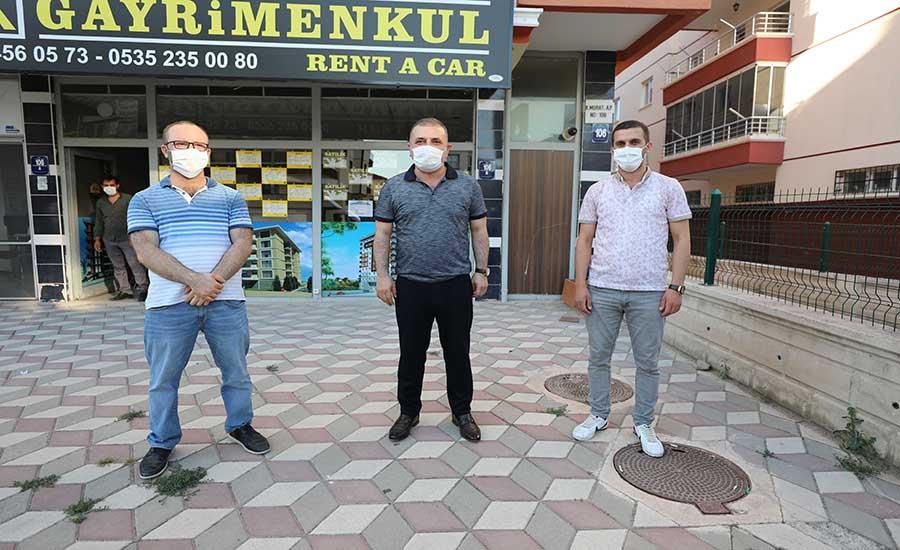 Murat Ercan Esnafı Ziyaret Etti