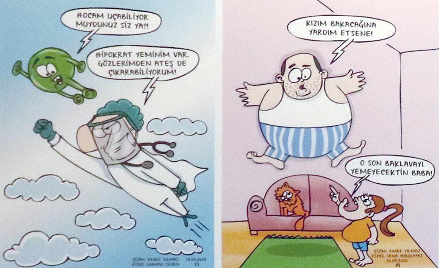 Karantina Günlerinin Karikatürleri