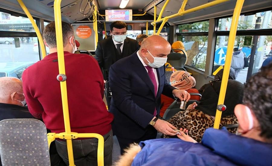 Turgut Altınok Otobüste Denetim Yaptı