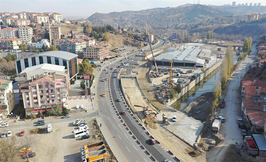 Hasköy Köprülü Kavşağının Yarısı Bitti